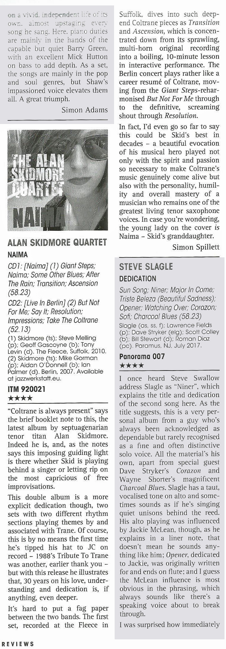Jazz Journal Naima review