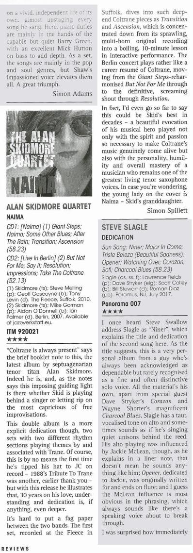 Jazz Journal Naima review
