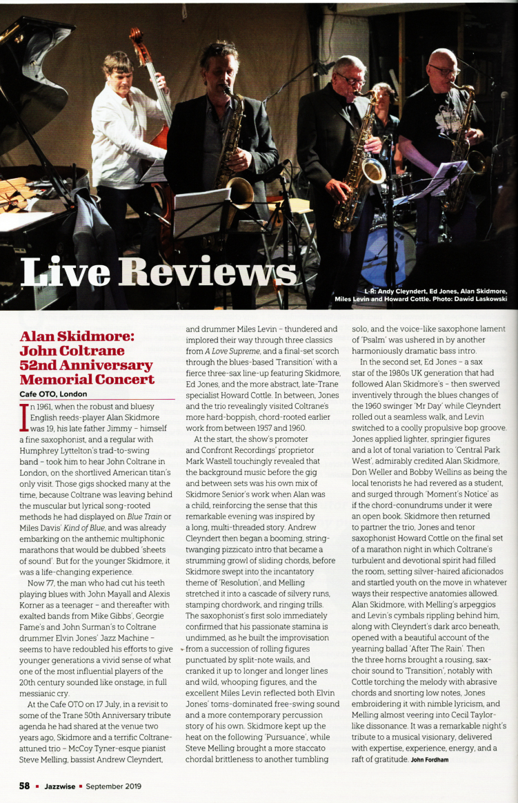 Jazzwise Cafe Oto review